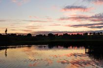 Sunset on Lough Erne in County Fermanagh by John McCoubrey
