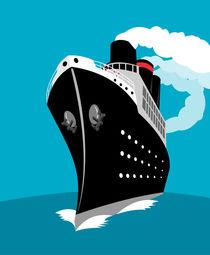ocean liner passenger cruise ship retro von patrimonio