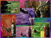 Sensual Wine Collage von Mark Moore