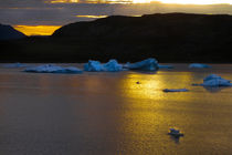 Frozen Sunset - Greenland von Gillian Sweeney
