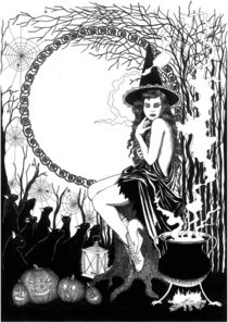 Halloween Witch von Alicja Jaczewska