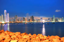 Panama-city-in-the-twilight