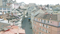 Roofs of Lausanne, Switzerland, in the spring by David Castillo Dominici