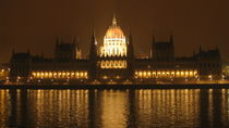 Night view. Budapest. The Parliament by Mila Muratti