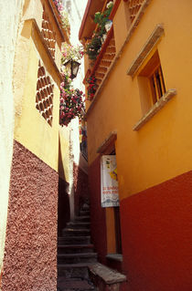 ALLEY OF THE KISS Guanajuato Mexico by John Mitchell