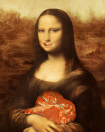 Mona Lisa Loves Valentine Chocolates von gravityx9