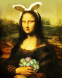 Mona Lisa With Easter Eggs by gravityx9