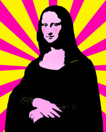 Pop Art Mona Lisa von gravityx9