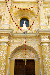 LA MERCED CHURCH FACADE Antigua Guatemala by John Mitchell