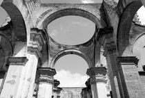 CATHEDRAL ARCHES BLACK AND WHITE Antigua Guatemala by John Mitchell