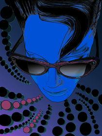 Kisses from Planet Uzu - Blue by Kasparian Tamar