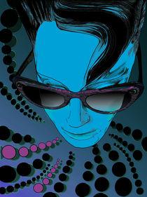 Kisses from Planet Uzu - Aqua Blue by Kasparian Tamar