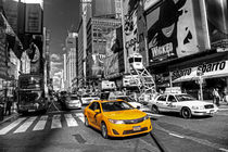 Times Square Taxi  by Rob Hawkins