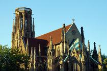 Neugotische Kirche - Johannes Kirche Stuttgart von Yven Dienst
