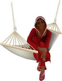 Arabisches Mädchen in der Hängematte von Gina Koch