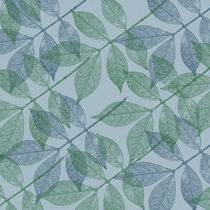 Green and Blue Leaves by Patricia N