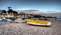 Boats at Budleigh  von Rob Hawkins