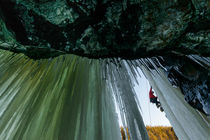 Ice climbing by Mikael Svensson