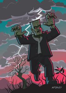 frankenstein creature in storm  von Martin  Davey