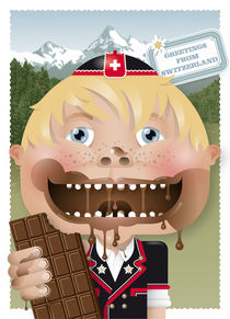 swiss chocolate boy by unikum Silvia Ringgenberg / Barbara Flückiger