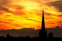 Norwich fiery sky by Jordan Browning