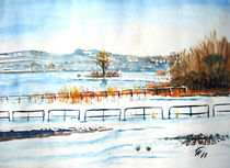 Strandbad Wallhausen im Winter by Christine  Hamm