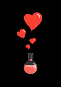Flask of Hearts Geek Valentine's Day by Boriana Giormova