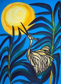 Reiher im Mondlicht by Dagmar Laimgruber