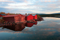 Boathouses at sunset von Intensivelight Panorama-Edition