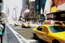 Block USA 2008 – Set 003 – Bild A – Times Square – Yellow Cab by Peter Heiko Wassenberg