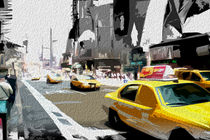 Block USA 2008 – Set 003 – Bild B – Times Square – Yellow Cab by Peter Heiko Wassenberg