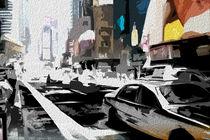 Block USA 2008 – Set 003 – Bild C – Times Square – Yellow Cab by Peter Heiko Wassenberg