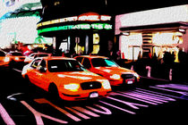 Block USA 2008 – Set 012 – Bild A – Times Square – Yellow Cab by Peter Heiko Wassenberg