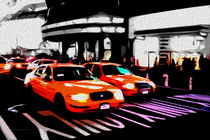 Block USA 2008 – Set 012 – Bild B – Times Square – Yellow Cab by Peter Heiko Wassenberg