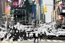 Block USA 2008 – Set 019 – Bild C – Times Square – Yellow Cab by Peter Heiko Wassenberg