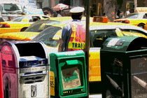 Block USA 2008 – Set 025 – Bild A – Times Square – Yellow Cab von Peter Heiko Wassenberg