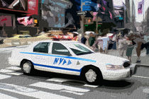 Block USA 2008 – Set 030 – Bild A – Times Square – Police Car von Peter Heiko Wassenberg
