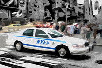 Block USA 2008 – Set 030 – Bild B – Times Square – Police Car von Peter Heiko Wassenberg
