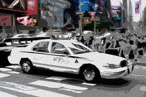Block USA 2008 – Set 030 – Bild C – Times Square – Police Car von Peter Heiko Wassenberg