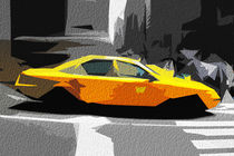 Block USA 2008 – Set 001 – Bild F – Times Square – Yellow Cab by Peter Heiko Wassenberg