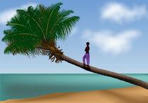 Junge auf der Palme von Gina Koch