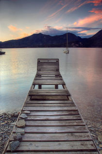Jetty - Lake Maggiore, Italy by Martin Williams