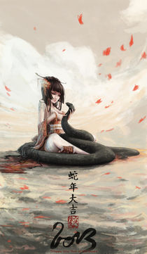 AZUMI - Happy Chinese New year ! by mitsukai-inki