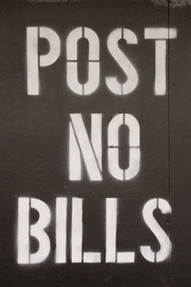 Post No Bills von kunertus