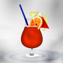 Cocktail Red and Fruits von Gina Koch