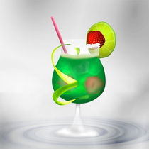 Cocktail Green Strawberry by Gina Koch