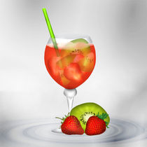 Cocktail Red Strawberry von Gina Koch