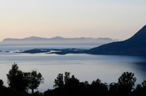 Calm sea at sunset in a fjord in northern Norway by Intensivelight Panorama-Edition