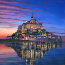 Mont Saint-Michel Soir  by Richard Harpum