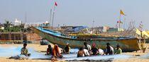Fischer am Strand von Puri von reisemonster